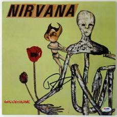 Dave Grohl Nirvana Incesticide Signed Album Cover PSA/DNA #W46790