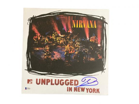 Dave Grohl Nirvana Mtv Unplugged In New York Signed Album Vinyl Auto Beckett