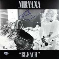 Dave Grohl Nirvana Signed Bleach Album Cover W/ Vinyl BAS #D67069