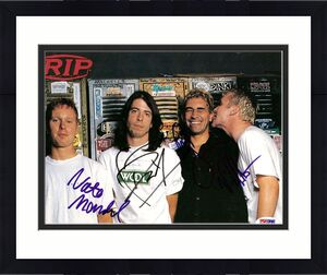 Dave Grohl, Pat Smear, Nate Mendel, & William Goldsmith Autographed Magazine Page Photo Foo Fighters PSA/DNA #S00385