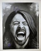 Dave Grohl Signed 24x30.5 Hand Painted Canvas Custom Painting Exact Proof