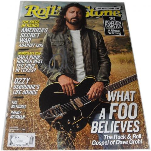 Dave Grohl Signed Auto Rolling Stone Full Magazine Sexy Foo Fighters JSA S93319
