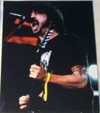 Dave Grohl Signed Autograph Classic On Stage Foo Fighters Guitar 8x10 Photo Coa