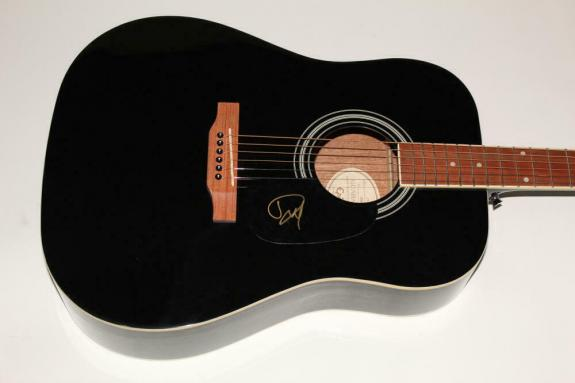 Dave Grohl Signed Autograph Gibson Epiphone Acoustic Guitar Nirvana Foo Fighters