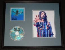 Dave Grohl Signed Framed 16x20 Nirvana Nevermind CD & Photo Display