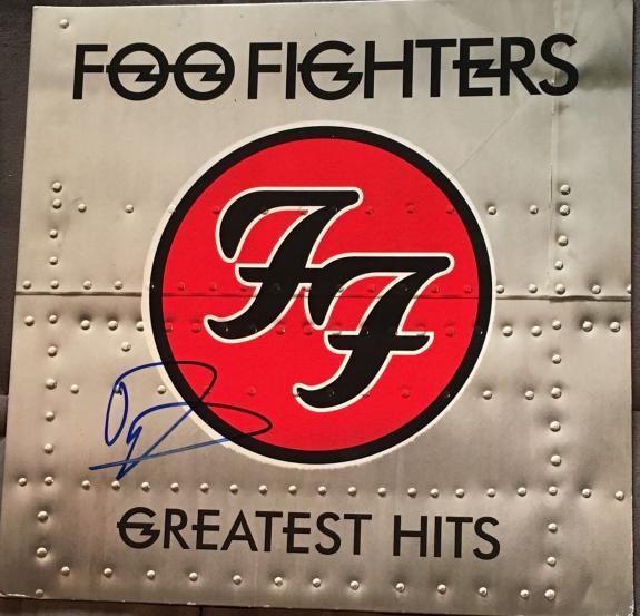 """Dave Grohl Signed Full Name Autograph Foo Fighters """"greatest Hits"""" Album Vinyl"""