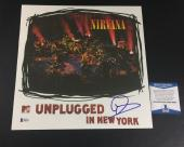Dave Grohl Signed Nirvana Unplugged In New York Vinyl Album Lp Bas Coa Beckett