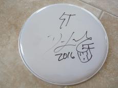 "Dave Lombardo Slayer Suicidal Signed Autographed 12"" Drumhead PSA Guaranteed"