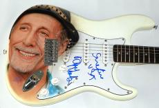 Dave Marks Autographed Beach Boys Airbrushed Guitar Plus Lyrics AFTAL