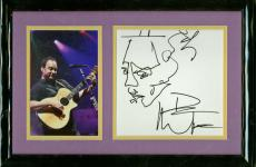 Dave Matthews Signed Autographed Self Sketched 6x6 Framed Display Beckett BAS