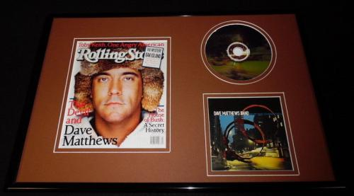 Dave Matthews 12x18 Framed Rolling Stone Cover & CD Display