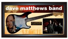 Dave Matthews Airbrushed Signed Guitar + Display Shadowbox Case PSA &Video Proof