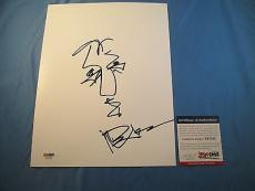 Dave Matthews Authentic Signed 8.5x11 Hand Drawn Sketch Autographed Psa #x97032
