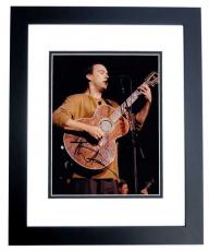 Dave Matthews Autographed Concert 8x10 Photo BLACK CUSTOM FRAME