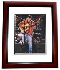 Dave Matthews Autographed Concert 8x10 Photo MAHOGANY CUSTOM FRAME