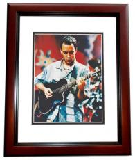 Dave Matthews Autographed Concert 8x10 Photo MAHOGANY CUSTOM FRAME - The Dave Matthews Band