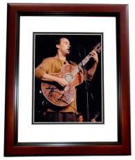Dave Matthews Autographed Concert 8x10 Photo MAHOGANY CUSTOM FRAME