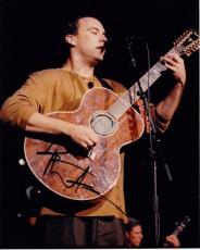 Dave Matthews Autographed Concert 8x10 Photo