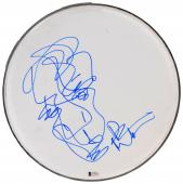 Dave Matthews Autographed Drumhead With Hand Drawn Sketch - BAS Coa