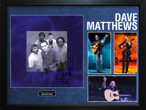 Dave Matthews Autographed Signed Album Flat Booklet Display AFTAL UACC RD COA