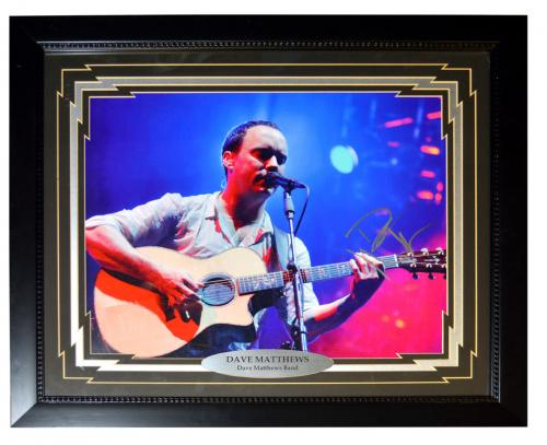 Dave Matthews Autographed Signed Framed 27x24 Photo UACC RD COA AFTAL