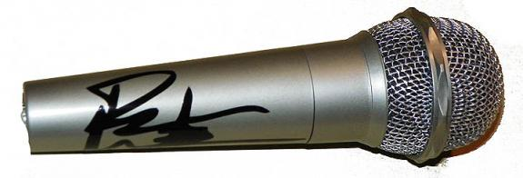 Dave Matthews Facsimile Signature   Microphone