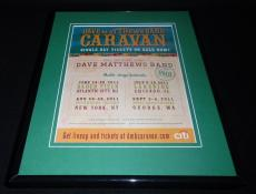 Dave Matthews Band 2011 Concert Framed 11x14 ORIGINAL Vintage Advertisement