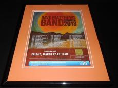 Dave Matthews Band 2013 Concert Framed 11x14 ORIGINAL Vintage Advertisement