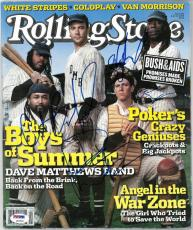 Dave Matthews Band (4) Multi Signed Rolling Stone Magazine PSA/DNA #Z03936