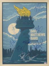 Dave Matthews Band (7) Multi-Signed Caravan Autographed Poster PSA/DNA #Z03913