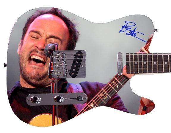 Dave Matthews Band Facsimile Signature  Custom Graphics Guitar