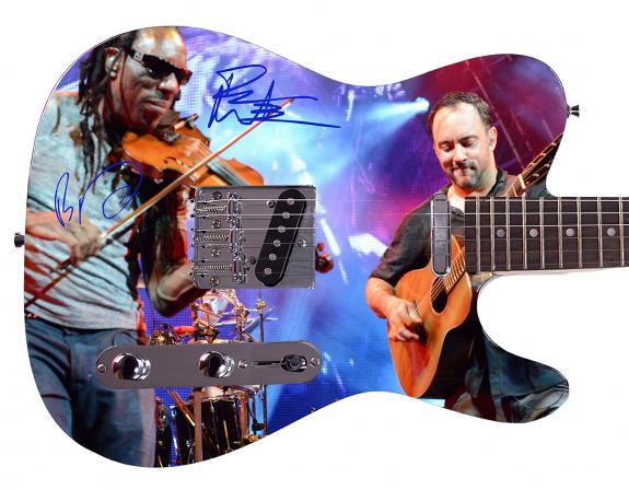 Dave Matthews Band Facsimile Signature  Custom Graphics Guitar