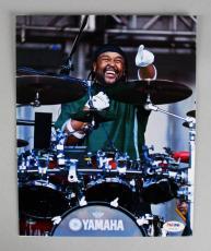 Dave Matthews Band Carter Beauford Signed 8×10 Color Photo – COA PSA/DNA