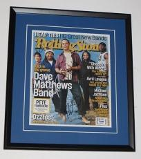 DAVE MATTHEWS Band DMB Group Signed & FRAMED ROLLING STONE DISPLAY Piece PSA DNA