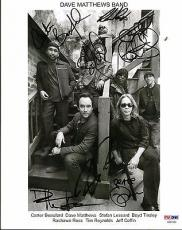 Dave Matthews Band Group Signed Autographed 8x10 Photo 7 Sigs! PSA/DNA