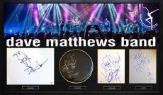Dave Matthews Band Milti Item Sketches Display Case AFTAL UACC RD COA PSA
