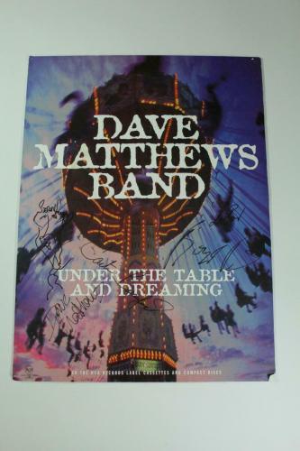 Dave Matthews Band Signed Autograph Concert Poster -vintage Leroi & Sketch Acoa