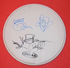 """Dave Matthews Band Signed Autographed 10"""" Drumhead by 6 Dave Carter Tim Jeff +"""