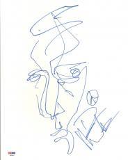 DAVE MATTHEWS DMB Drawing Signed 11x14 Original Artwork Sketch PSA/DNA #T53826