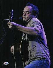 Dave Matthews Signed Autographed 11x14 Photo! DMB Band! In Concert! PSA COA!