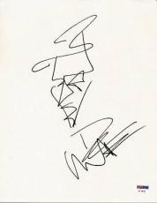 Dave Matthews Signed 8.5x11 Hand Drawn Sketch Autographed Psa #v17821