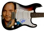 Dave Matthews Signed Airbrushed Guitar Psa/Dna & Video Proof AFTAL