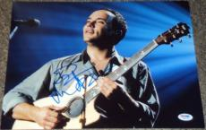 Dave Matthews Signed Autograph Acoustic Guitar Stage 11x14 Photo Psa/dna W55736
