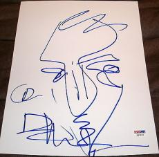 Dave Matthews Signed Autograph Original Very Rare Sketch Artwork Psa/dna X87213