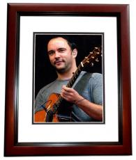 Dave Matthews Signed - Autographed Dave Matthews Band Concert 11x14 Photo DMB MAHOGANY CUSTOM FRAME