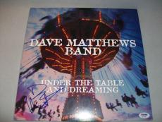 """DAVE MATTHEWS signed autographed """"UNDER THE TABLE ...."""" LP RECORD PSA/DNA COA"""