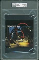 Dave Matthews Signed Before These Crowded Streets Cd Cover Psa Slabbed