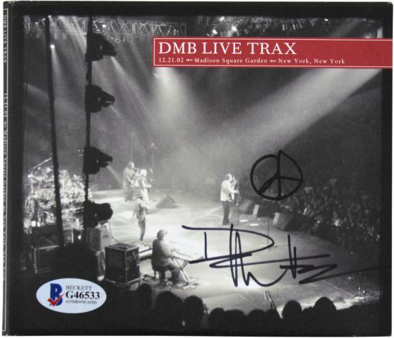 Dave Matthews Signed DMB Live Trax Cd Cover w/ 2 Discs BAS #G46533
