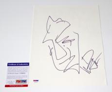 Dave Matthews Sketch Signed 9x11 Sketch Paper Psa Coa U20332