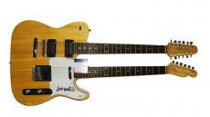 Dave Mustaine Autographed Doubleneck Guitar UACC RD COA AFTAL